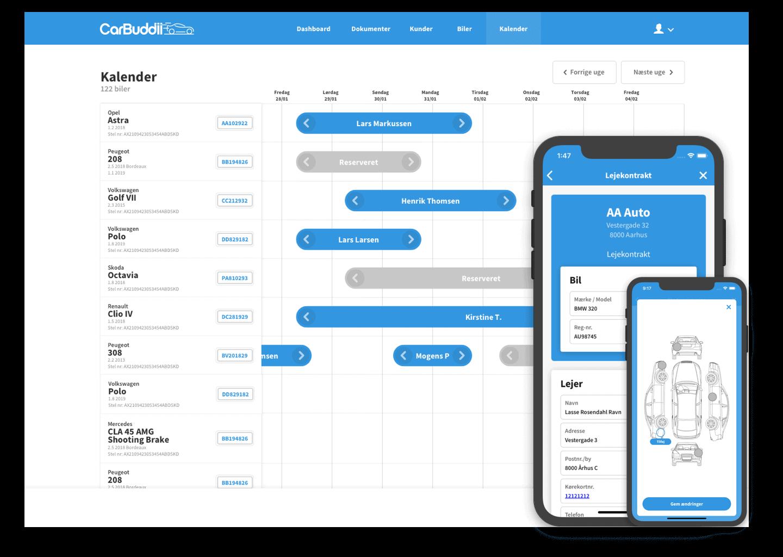 Med digitale lejekontrakter og et brugervenligt kalenderoverblik er der styr på værkstedet