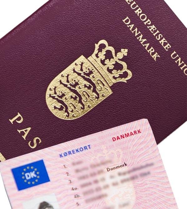Udlejer skal altid sikre sig at lejer har kørekort med, eller pas hvis personen ikke er dansk statsborger.